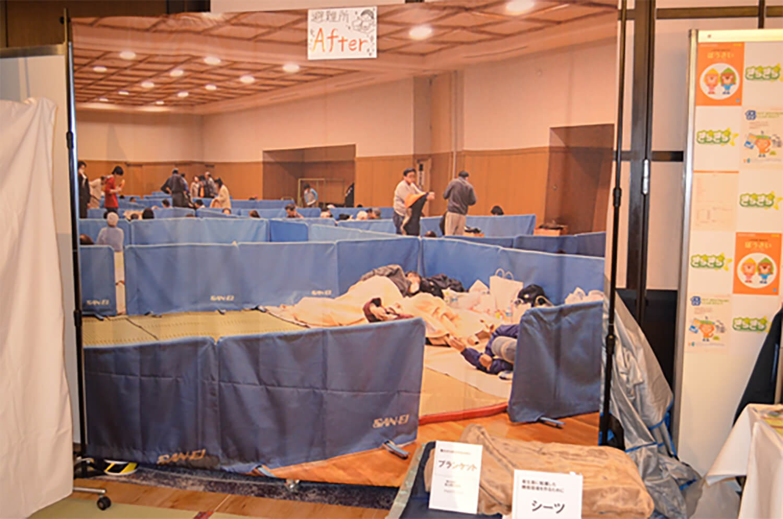 災害時の避難所再現ブース画像3